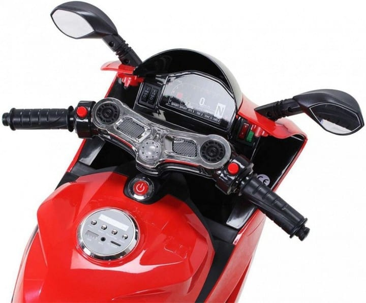 Ducati Style 12v Ride On Motorbike With Light Up Wheels Red
