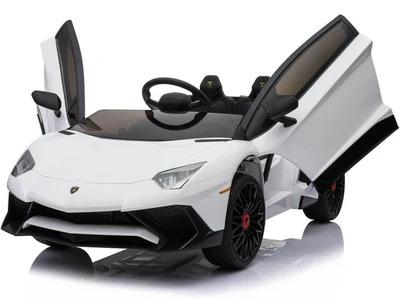 12v Lamborghini Huracán 4wd Licensed Kids Electric Ride On Car – White