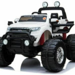 Ford Ranger Ride On Kids 24v Monster Truck 4wd Eva Wheels – White