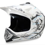 Kids Motocross Mx Open Face Helmet White