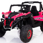 Utv-mx 24v* Twin Seat Kids 4wd Buggy – Eva Wheels – Pink