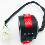 3 Function 6 + 2 Wire Handle Kill Start Light Switch For 50cc 70cc 90cc 110cc 125cc Atv Quad Hawkmoto