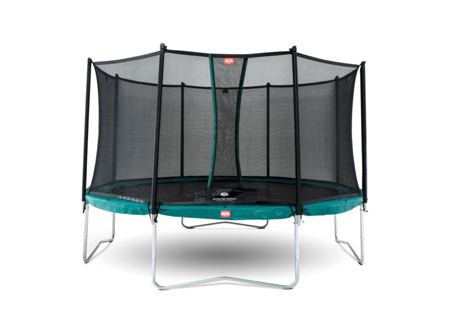 BERG Favorit 330 11ft Trampoline Green With Safety Net Comfort