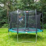 Berg Favorit Regular 330 11ft Trampoline Green With Safety Net Comfort
