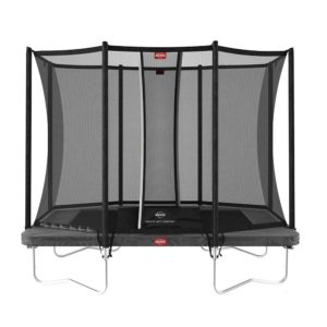 BERG Ultim Favorit 280 Rectangle Trampoline Grey With Safety Net