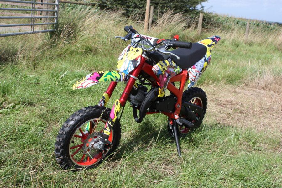 Hawkmoto Strike 50cc Kids Mini Dirt Bike – Yellow