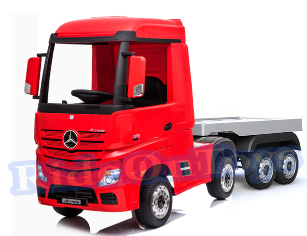 Mercedes Actros 24v* Electric Kids Truck With Trailer -red