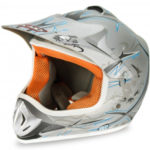 Kids Motocross Mx Open Face Helmet Silver