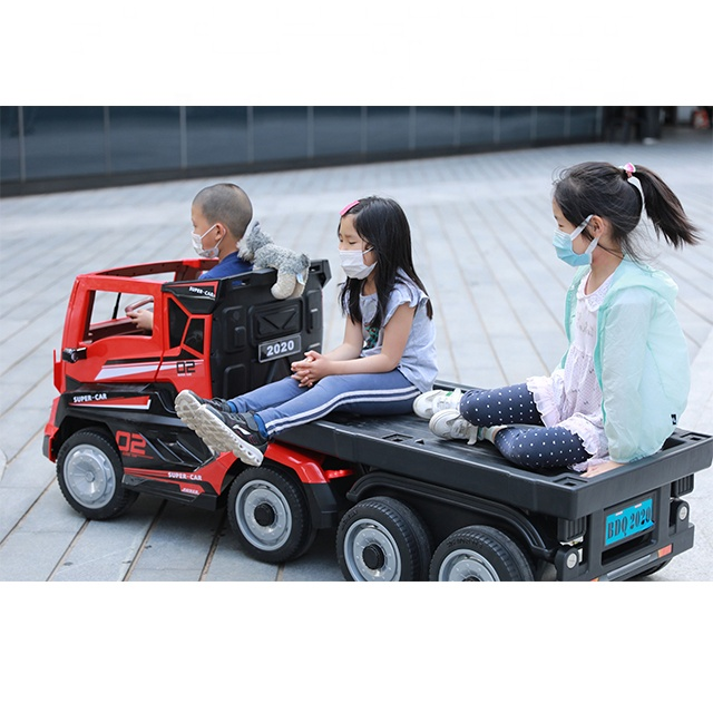 Electric Children's Lorry Scania Style With Trailer – Red