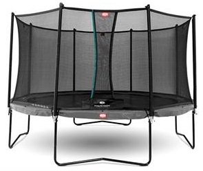 Berg Champion 330 Trampoline Grey With Safety Net Comfort