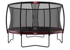 Berg Elite 430 14ft Trampoline With Safety Net Delux – Red