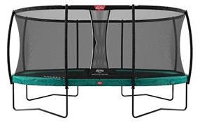 BERG Grand Champion Trampoline 350 Green with Safety Net Deluxe